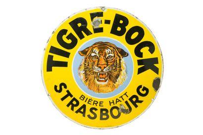 TIGRE-BOCK Bière Hatt Strasbourgs.  Émaillerie...