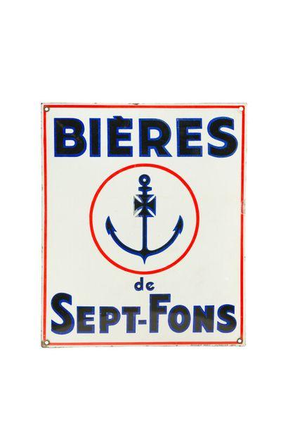 BIÈRES de SEPT-FONS.  Émail Vitracier, Japy,...