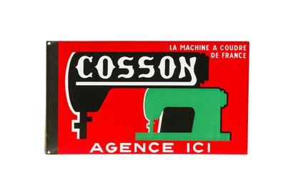 COSSON La machine à coudre de France.  Émail...