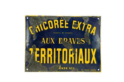 CHICORÉE EXTRA.  Émaillerie Edmond Jean,...