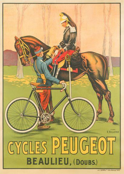 PEUGEOT CYCLES, Beaulieu (Doubs).  Signée...