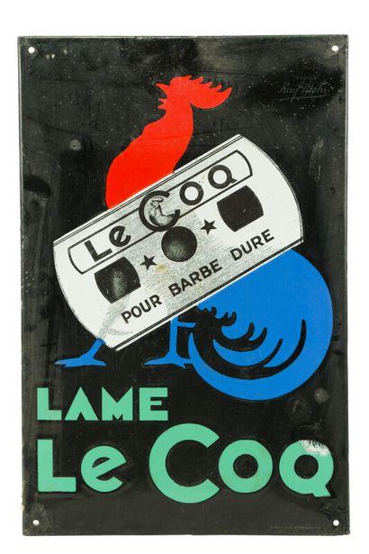 LE COQ LAME.  D'après Paul MORH, 1932.  Émaillerie...