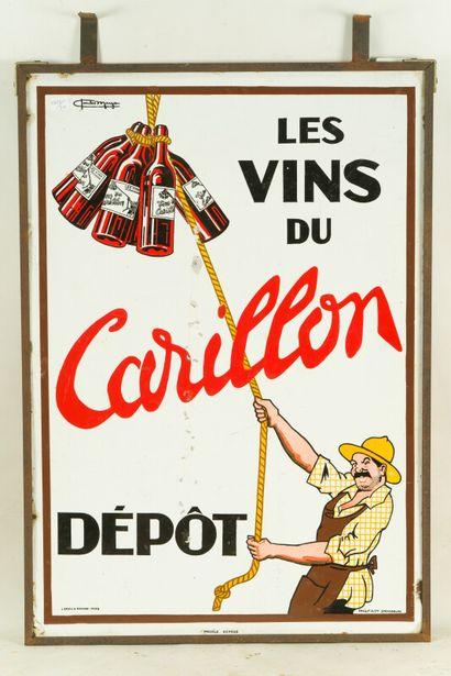 CARILLON Les vins du, Dépôt.  Signé Charles MARGAN, 1930.  L'Émaillo-gravure et...