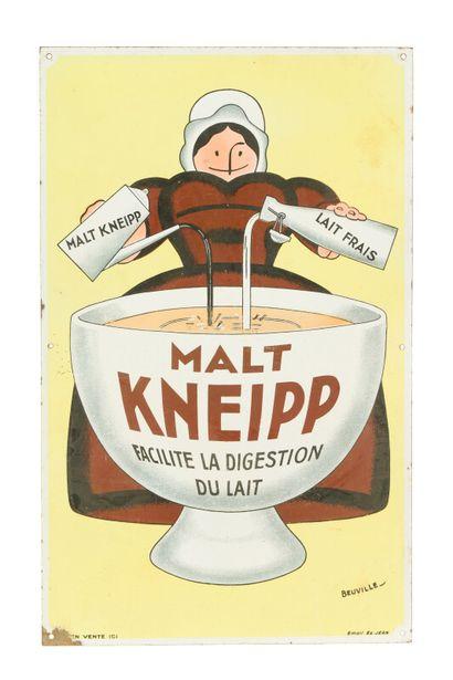 KNEIPP Malt.  Signée BEUVILLE, 1925.  Émaillerie...