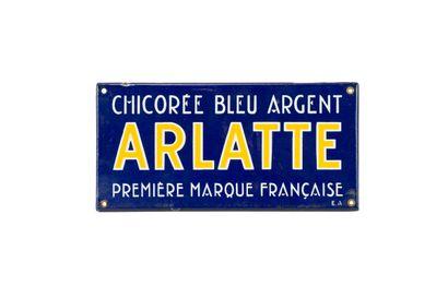 ARLATTE Chicorée bleu argent.  Émaillerie...