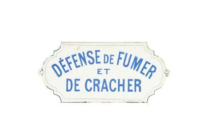 DÉFENSE de FUMER et DE CRACHER.  Émail Appert,...
