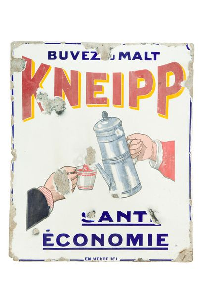 KNEIPP Buvez du malt.  Émaillerie Edmond...