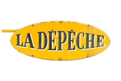 LA DÉPÊCHE (Presse).  Sans mention d'émaillerie,...