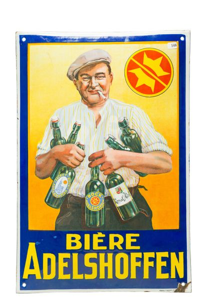 Bière ADELSHOFFEN.  Émaillerie Alsacienne...