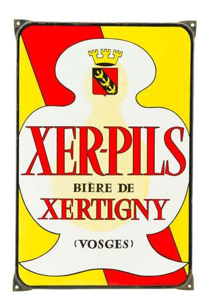 XER-PILS Bière de Xertigny, Vosges.  Émail...