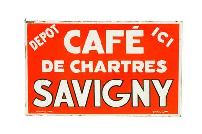 SAVIGNY Café de Chartres.  Émaillerie Japy,...