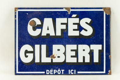 GILBERT CAFÉS.  Sans mention d'émaillerie,...