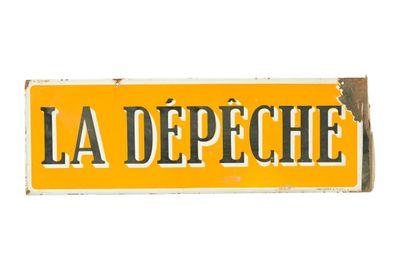 LA DÉPÊCHE (Presse).  Émail du Rhône, vers...