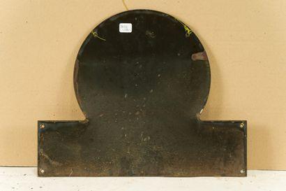 CLACQUESIN (Apéritif).  Sans mention d'émaillerie, vers 1950.  Plaque émaillée plate...