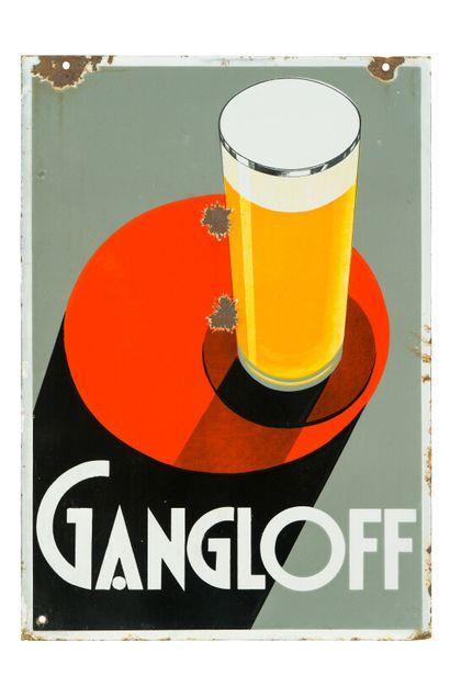 GANGLOFF (Bière).  Émaillerie Alsacienne...