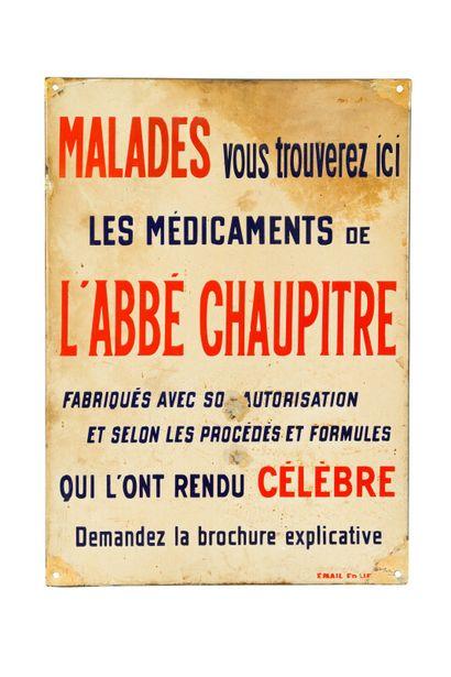 L'ABBE CHAUPITRE, Médicaments de.  Émaillerie...