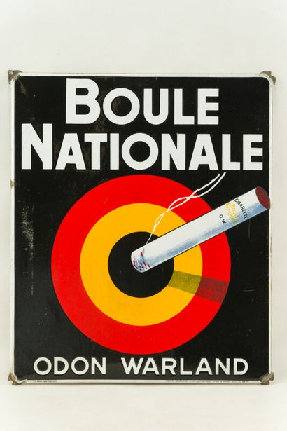 BOULE NATIONALE Odon Warland, (Cigarettes)....
