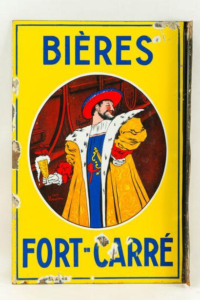 FORT CARRÉ BIÈRES.  D'après CAPPIELLO, 1912.  Sans mention d'émaillerie, vers 1935....