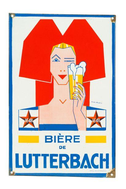 LUTTERBACH Bière de.  Signée André STOULS,...