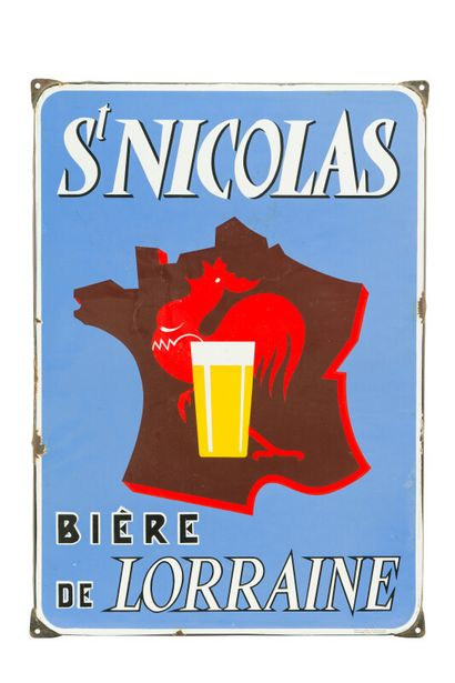 St. NICOLAS Bière de Lorraine.  Émaillerie...