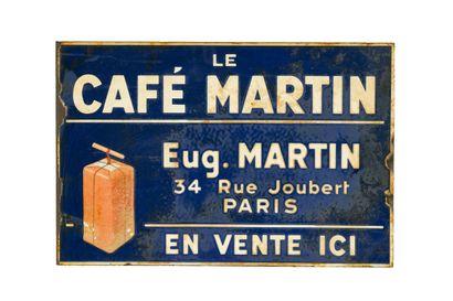 LE CAFÉ MARTIN.  Sans mention d'émaillerie,...