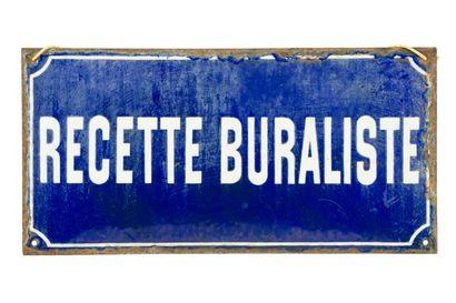 RECETTE BURALISTE  Sans mention d'émaillerie,...