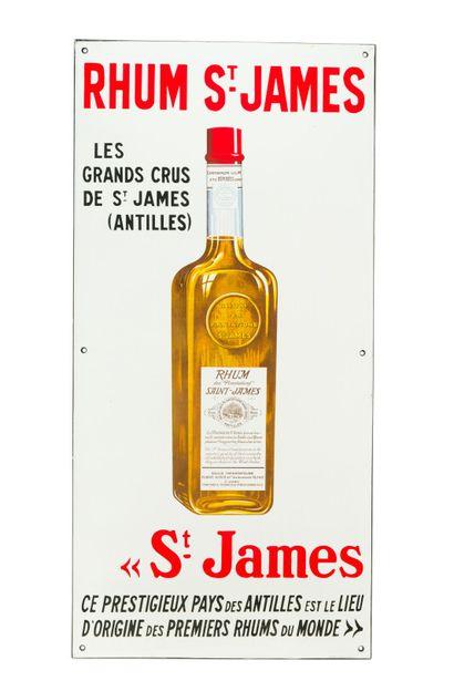 St. JAMES Rhum, Antilles.  Émaillerie Alsacienne Strasbourg, vers 1950.  Plaque...