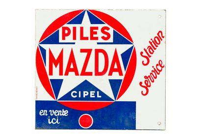 MAZDA PILES Station-Service.  Émaillerie...