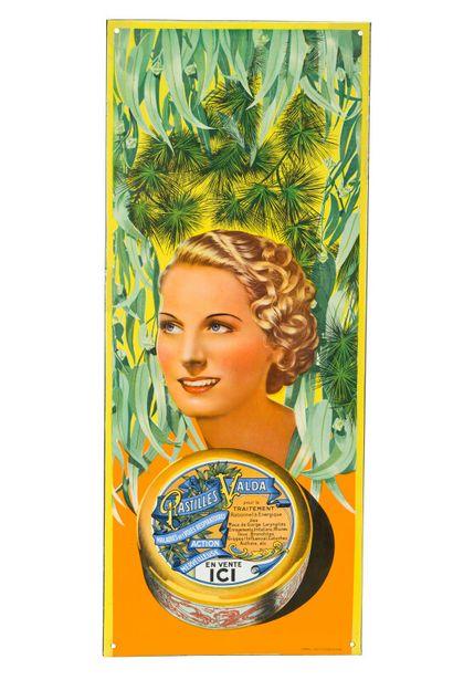 VALDA PASTILLES.  D'après FALCUCCI, 1936....