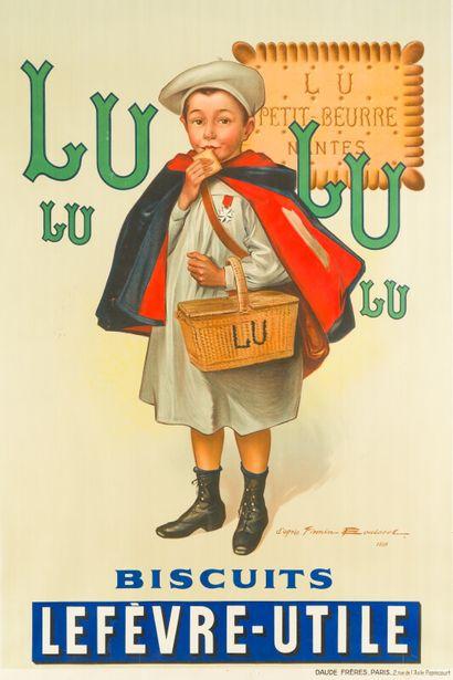 LU LU, Biscuits LEFÈVRE-UTILE.  Signée d'après...