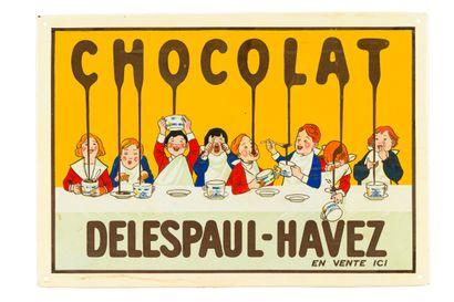 DELESPAUL-HAVEZ CHOCOLAT.  Émaillerie Alsacienne...