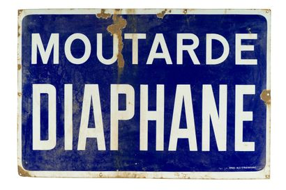 DIAPHANE MOUTARDE.  Émaillerie Alsacienne...