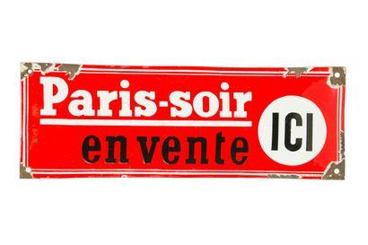 PARIS SOIR (Presse).  Émaillerie Alsacienne...