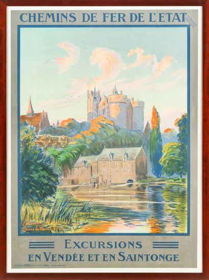 CHEMINS DE FER DE L'ÉTAT, Excursions en Vendée...