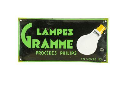 GRAMME LAMPE Procédé Philips.  Émaillerie...