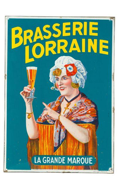 BRASSERIE LORRAINE La grande marque.  Émaillerie...