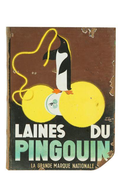PINGOUIN LAINES DU.  Signée Will LACROIX,...