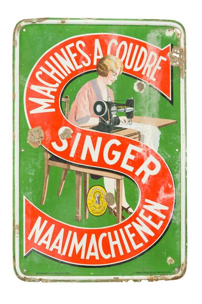 SINGER, Machines à coudre / Naaimachienen....
