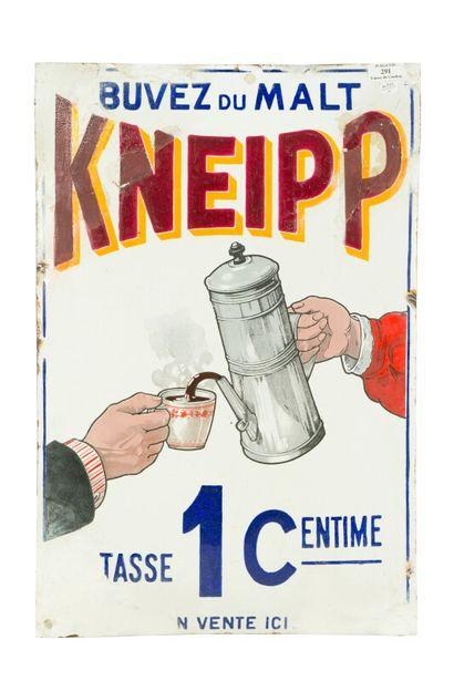 KNEIPP Buvez du malt.  Sans mention d'émaillerie,...