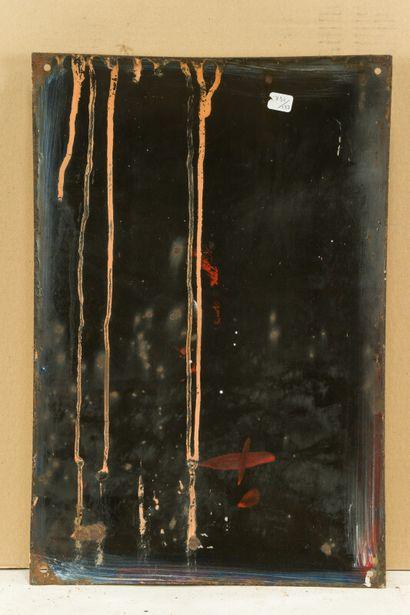POSTILLON Vins du.  Émaillerie Alsacienne Strasbourg, vers 1935.  Plaque émaillée...