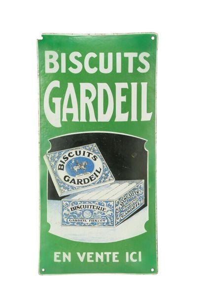 GARDEIL Biscuits.  Sans mention d'émaillerie....