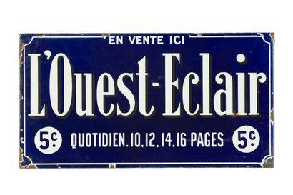 L'OUEST ÉCLAIR (Presse).  Sans mention d'émaillerie,...