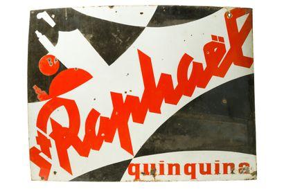 St. RAPHAEL Quinquina.  D'après Charles Loupot, 1948.  Sans mention d'émaillerie,...