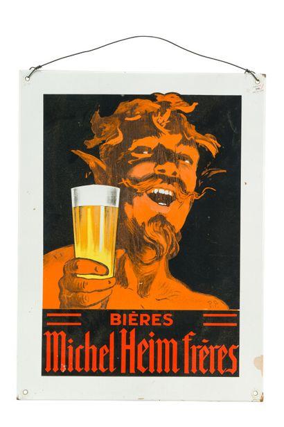 MICHEL HEIM FRERES Bières.  Signé René PEAN,...