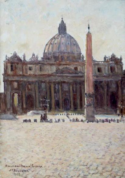 L'obélisque et la Basilique Saint-Pierre...