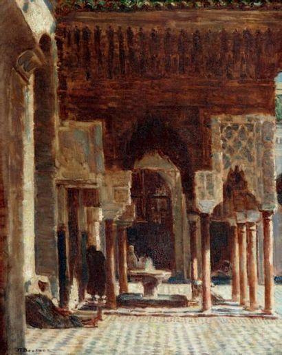 La mosquée Karaouine, Fès Huile sur toile,...