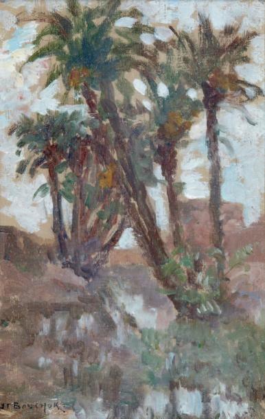 Les palmiers des remparts, Marrakech Huile...