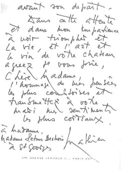 Georges MATHIEU (1921-2012) Hommage à Saint Georges, 1966 Huile sur toile titrée,...