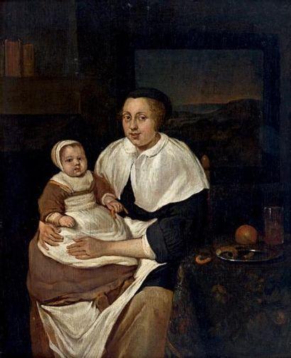 École HOLLANDAISE du XVIIe, suiveur de G. METSU