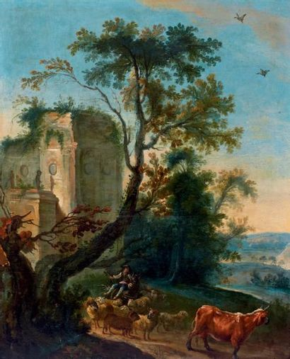 École FRANÇAISE du XVIIIe siècle, suiveur de Jean-Baptiste Huet